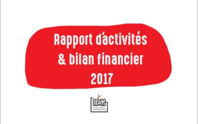 Rapports d'activités & financier 2017 et d'orientation 2018 !