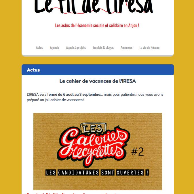 ACTUS | Cahiers de vacances IRESA