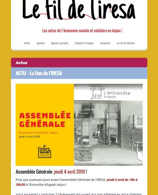ACTUS | Le FIL de mars !