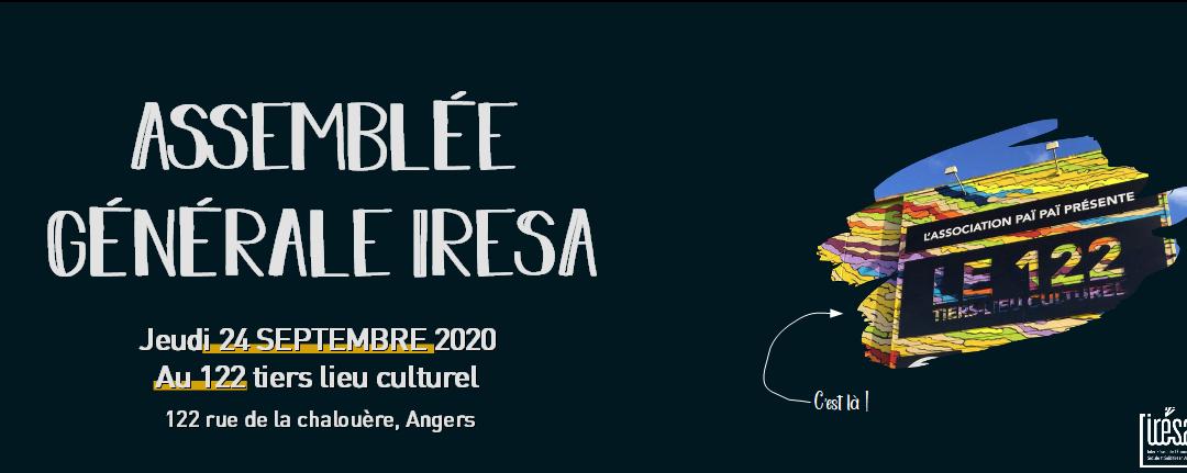 📢 Assemblée Générale de l'IRESA | Le 24 Septembre 2020 au 122